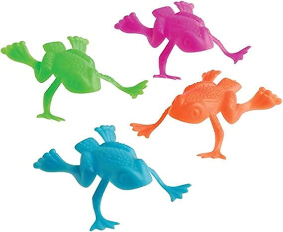 US Toy Jumping Frog Toy (Lot of 36), Assorted Color