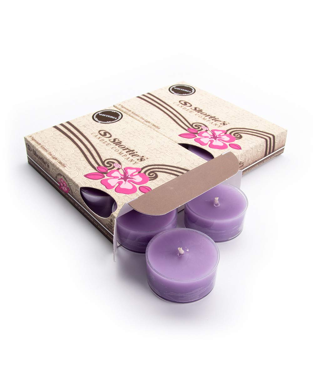 Clear Cup for Beautiful Candlelight 12 Purple Highly Scented Tea Lights Pure English Lavender Tealight Candles Multi Pack - Made with Essential /& Natural Oils Flower /& Floral Collection
