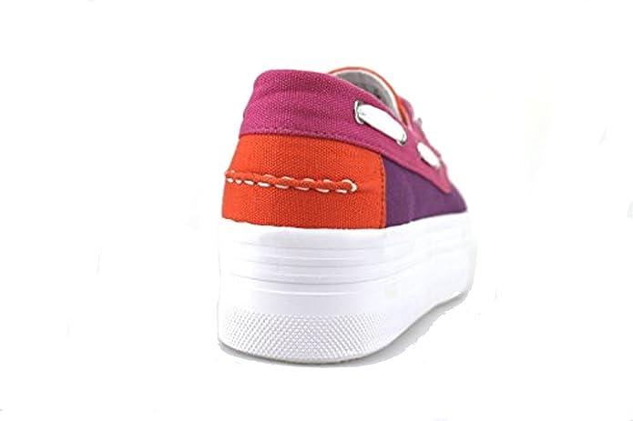 Chaussures Femme Jeffrey Campbell Play Sneakers Orange Textile Fuchsia Ah427 rAkUt
