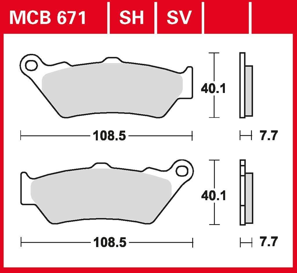 Bremsbelag TRW Sinter Street Hochleistungsbelag R 1200 HP2 Enduro K25H 05-08 vorne
