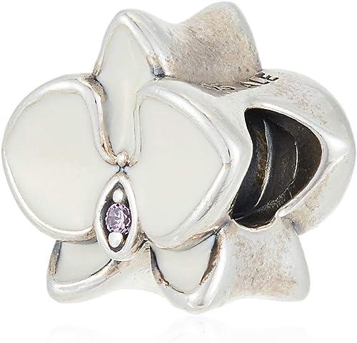 Pandora Orchid White Charm 792074EN12