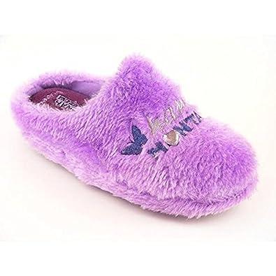 Girls Spot On Mule Slippers Hannah Montana