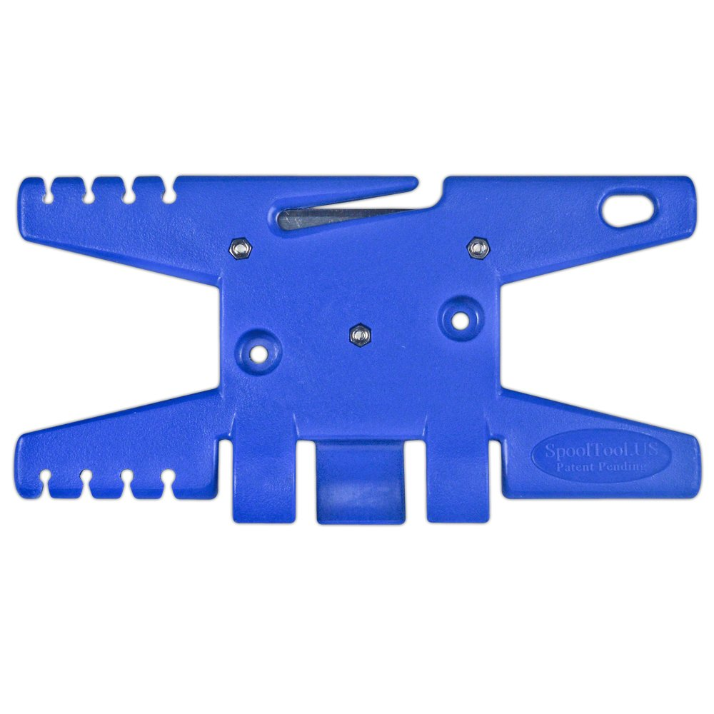 PARACORD PLANET Spool Tool - Holds up to 100 Feet of Paracord - Perfect for your Survival and Bug Out Bags and Crafting Tools and Holder All in one (Blue)