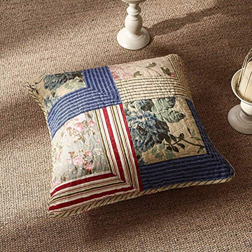 Tache 2 Piece 18 x 18 Inch 100 Cotton Floral Cottage Rustic Japanese Emperor Garden Decorative Accent Cushion Cover