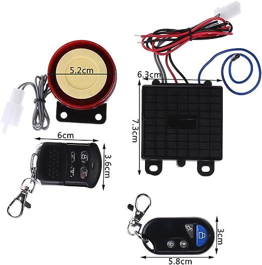 Sistema de alarma de seguridad para scooter, control remoto, 12 V ...