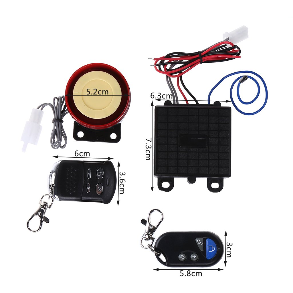 Scooter Car Security Alarm System Remote Control 12V Anti-Theft Bike Motorcycle Freshsell
