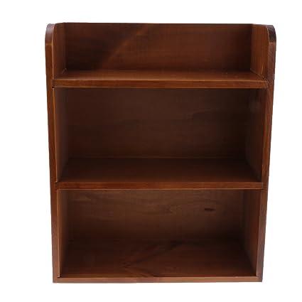 Amazon Com Fityle Desk Bookshelf Wooden Bookcase Organizer Rack