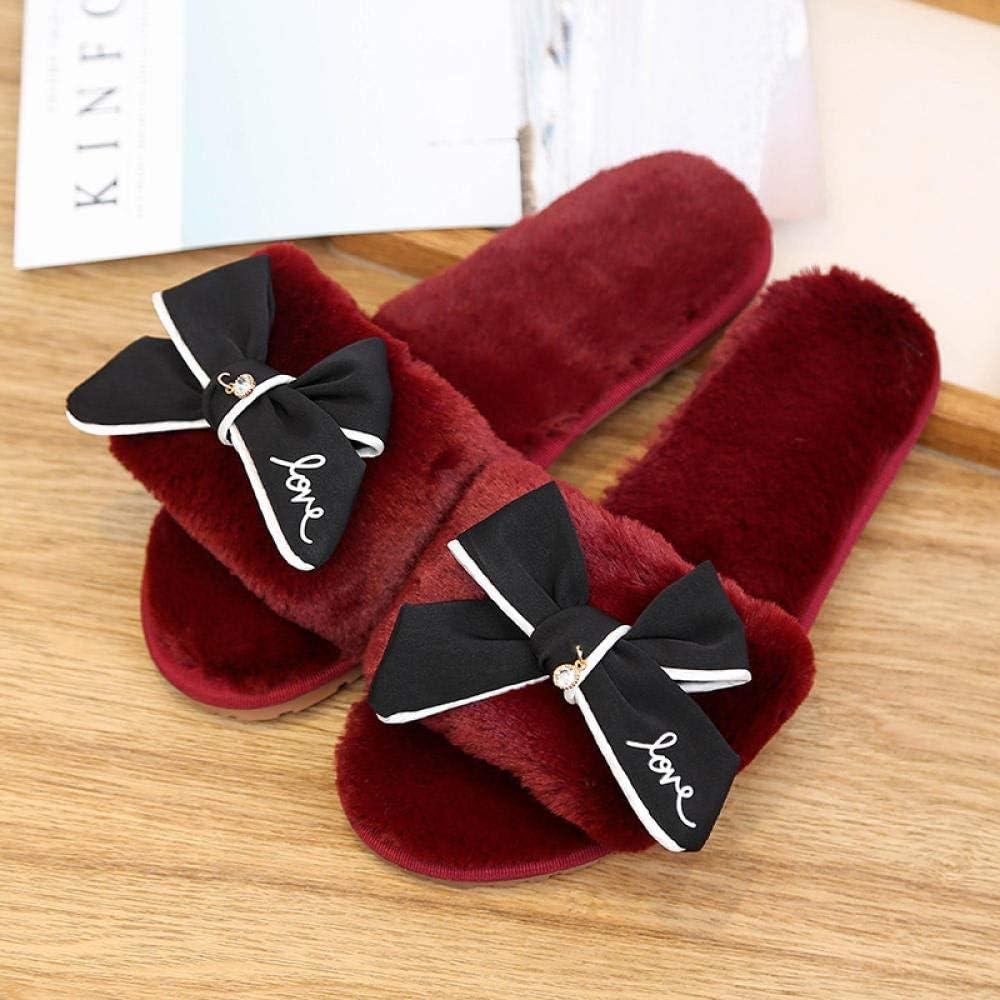 Zapatillas Para Mujer Algodón Slippers,Otoño Invierno Cálido ...