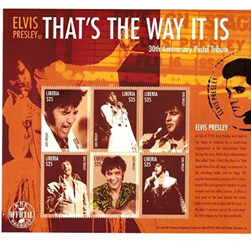 Elvis Presley - That's The Way It Is - Sheet of Six Collectors Stamps - Liberia ()
