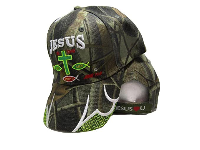 727d4995 Ant Enterprises Jesus Is The Way Life Truth Christ Christian Camo  Camouflage Embroidered Cap Hat
