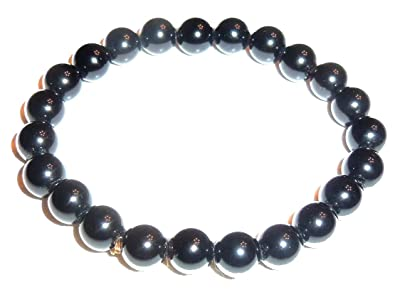 Natural Genuine Semi-Precious Healing Power Obsidian Gold Dragon Ball Crystal Bracelet b0nEqAycjY