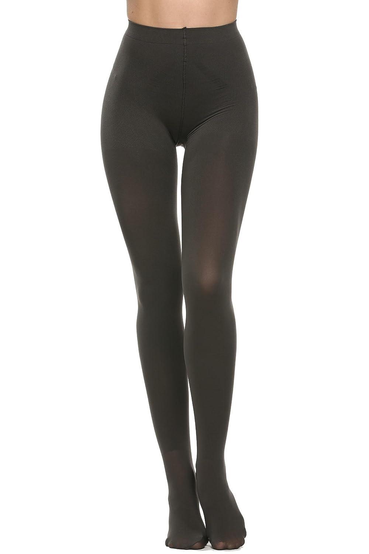17959e26a979e TelDen Women's Leggswear Tight Opaque Microfiber Tights Footed Pantyhose  Tights Black Leggings at Amazon Women's Clothing store:
