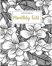 Monthly Bill Planner and Organizer: household budget ledger | 3 Year Calendar 2020-2022 Weekly Expense Tracker Bill Organizer Notebook For Business Planner or Personal Finance Planning Workbook Flower Design Gift for Women