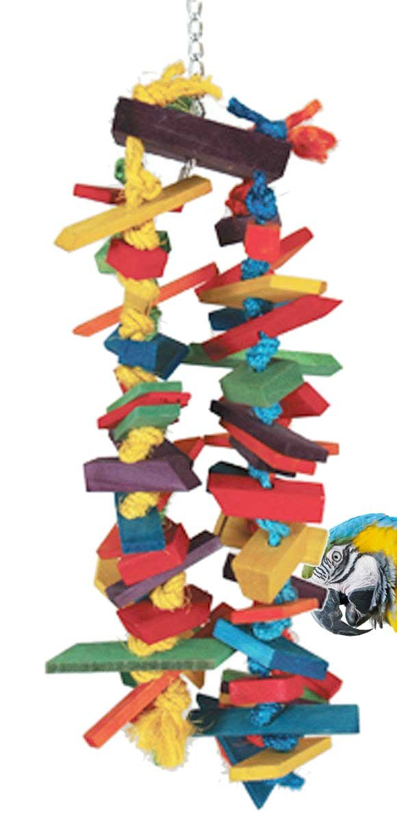 Bonka Bird Toys 1048 Huge Cluster Chew Parrot cage Toy Cages African Grey Amazons by Bonka Bird Toys
