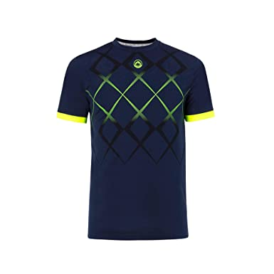 JHAYBER Camiseta Manga Corta Hombre Técnica Tenis Padel (S, Marino ...