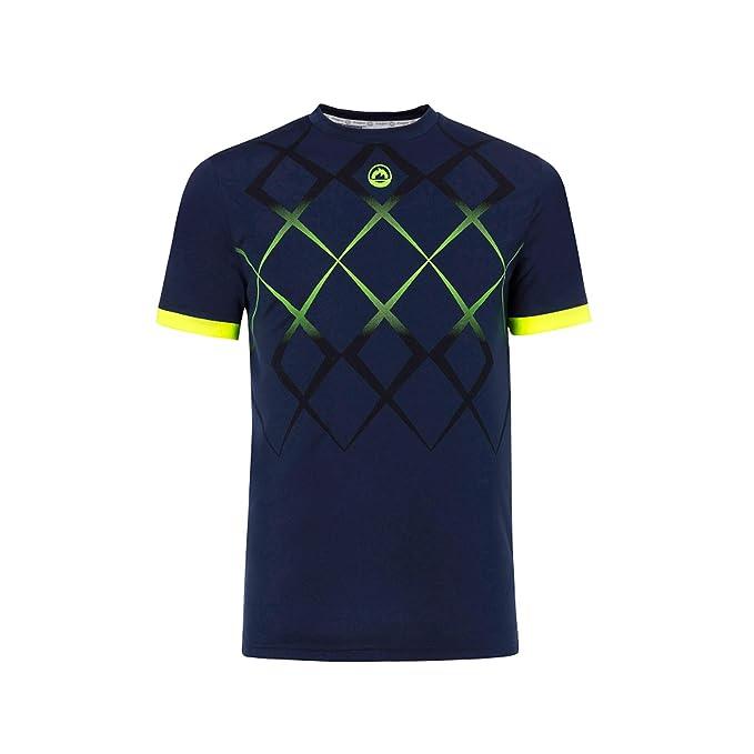 JHAYBER Camiseta Manga Corta Hombre Técnica Tenis Padel (M, Marino ...