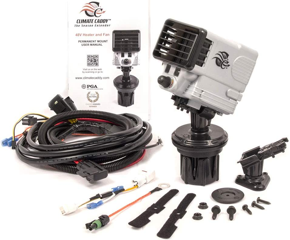 TSI Products, INC SCC7702 Climate Caddy 8V Electric Golf Cart Heater and Fan with Permanent Mount Kit