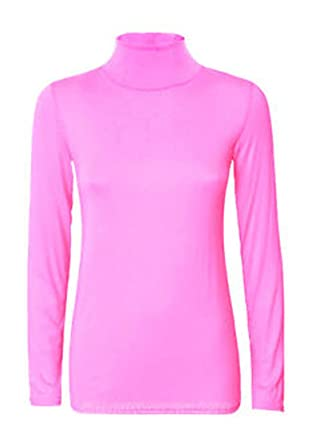 883ea90679e199 NEW WOMEN LADIES PLAIN POLO TURTLE NECK STRETCH LONG SLEEVE TOP JUMPER SIZE  8-26: Amazon.co.uk: Clothing