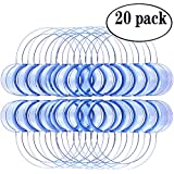 20 Pack Multi-size Dental Lip Cheek Retractor for Watch Ya Mouth/Speak Out Game C-SHAPE Teeth Whitening Intraoral Mouth Opener Blue Color for Adults( 10 Large 10 Medium)