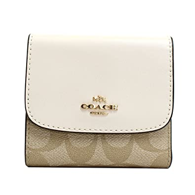 online store aa24f cee75 Amazon | (コーチ)COACH 財布 三つ折り財布 ライトカーキ ...