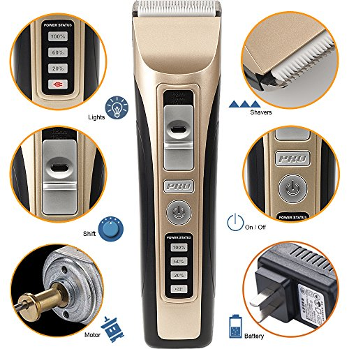 Dog-Hair-Clippers-oneisall-Low-Noise-Cordless-Rechargeable-Pet-Grooming-ClipperProfessional-Heavy-Duty-Pet-Grooming-Clippers-for-Thick-Hair-Dogs-Cats-and-Horses