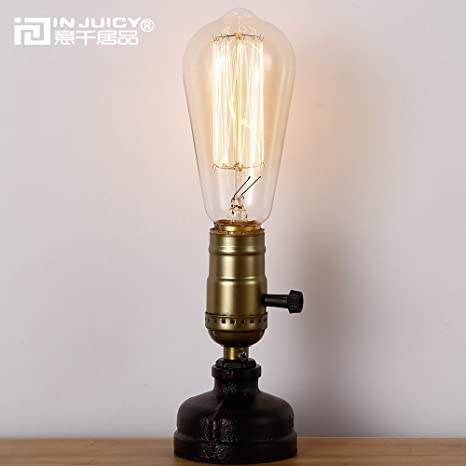 INJUICY Antique Table Lamps, Steampunk Water Pipe Desk Lamp Base with  Switch for Bedside, - Amazon.com: INJUICY Antique Table Lamps, Steampunk Water Pipe Desk