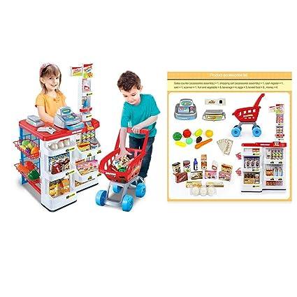 Tienda de Alimentos con Carrito de la Compra,Tienda y carrito de la compra de