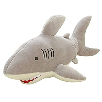 Good Night Dibujos Animados Tiburón Blanco Gigante Suave Peluche rellena Almohada de Dormir de Juguete para Niños, 27,6