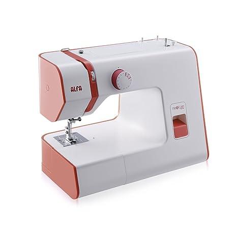 Alfa NEXT 20 Spring - Máquina de coser con 13 puntadas, color rojo coral [