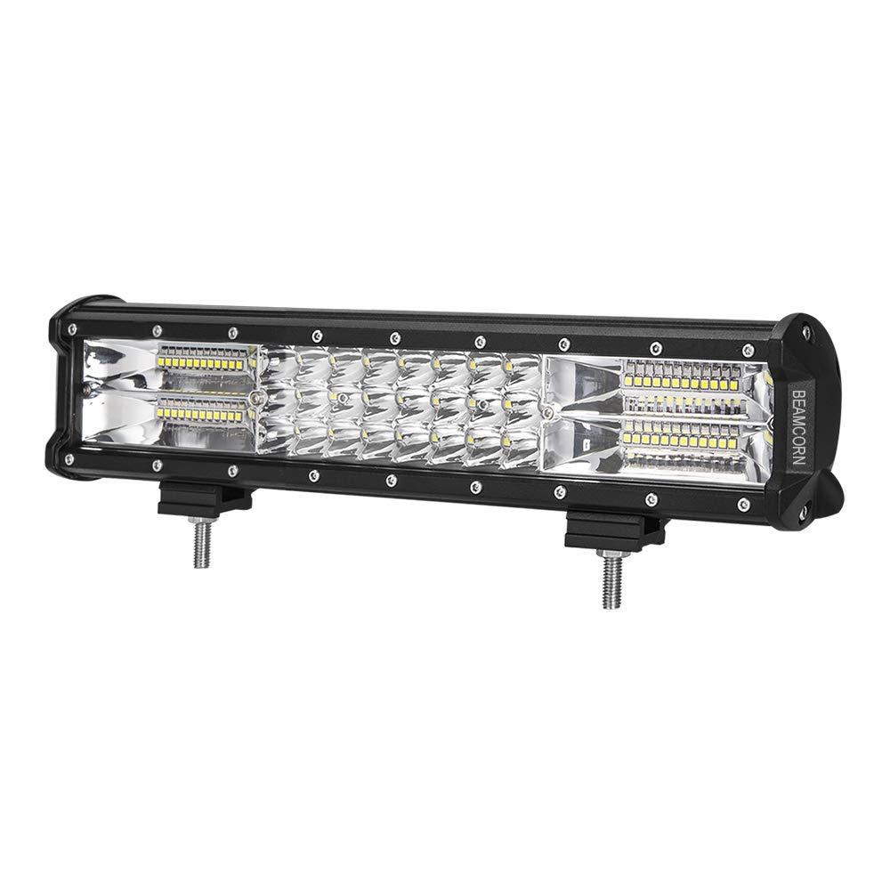 Led Light Bar BEAMCORN 15 inch 216W 21600Lm Spot Flood Combo Led Off Road Light Backup Driving Light for Trucks ATV UTV SUV Jeep Vehicles LHJ-PKM216-15inch