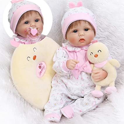 """Realistic 16/"""" Soft Silicone Reborn Dolls Lovely Baby Girl Toddler Kids Gifts Toy"""