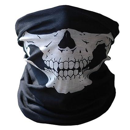 Moto Casco Mascaras Calavera Tubular Protección Polvo Máscara Boca Bandana Motocicleta Poliéster Bufanda Cuello Calentador Casco