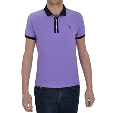 Urban Fox - Polo - Manga corta - para hombre Morado lila: Amazon ...