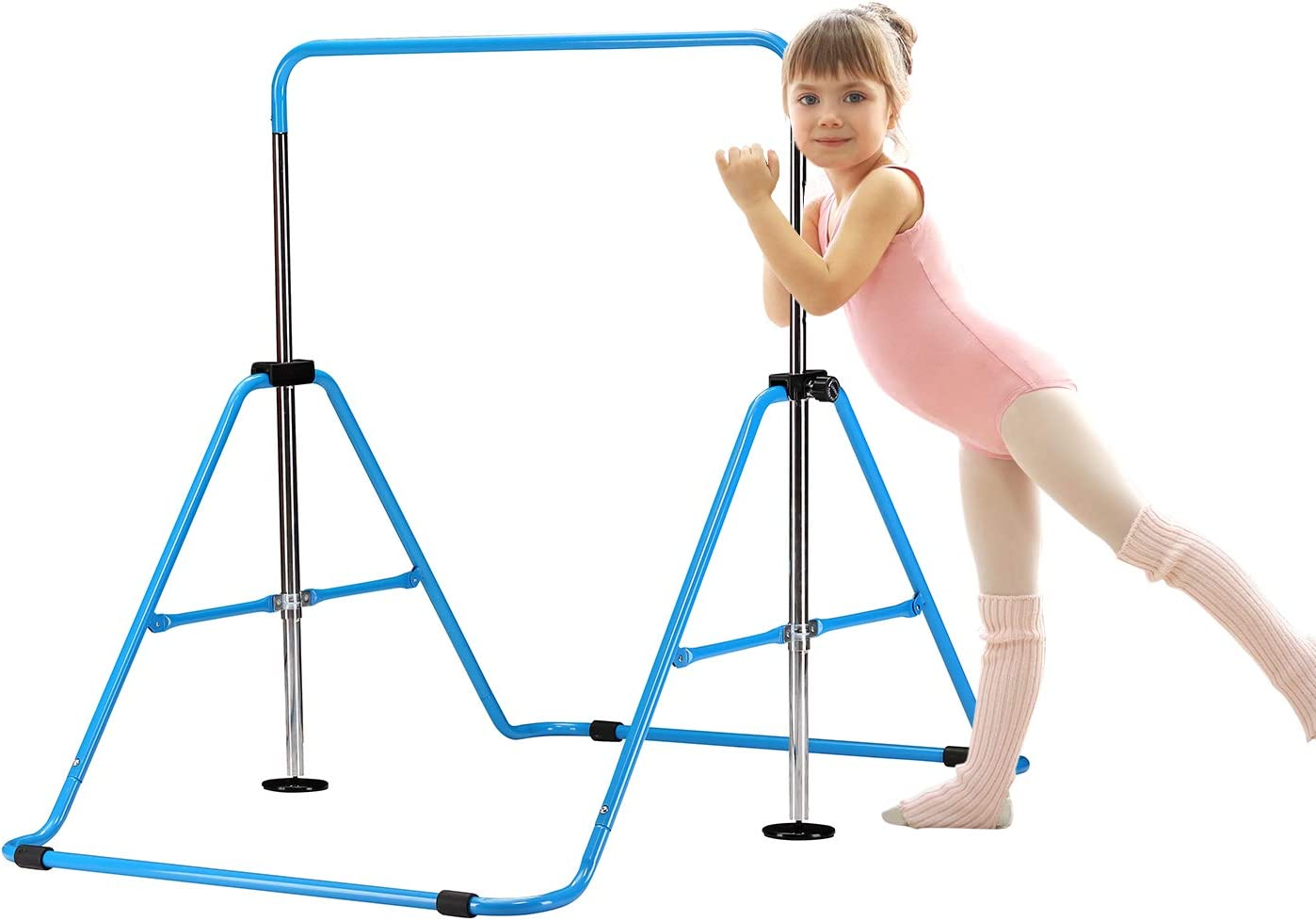 HYD-Parts Gymnastics Kip Bar Kids, Junior Training Bar,Height Adjustable Horizontal Bars, Folding Gymnastics Bars Monkey Bars for Kids