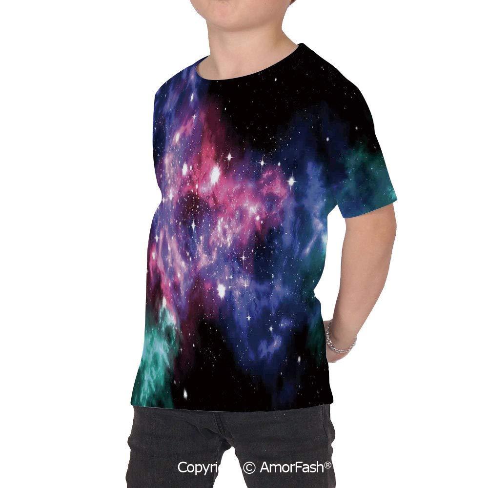 Space Decorations Distinctive Childrens Premium Polyester T-Shirt,XS-2XL,Stars