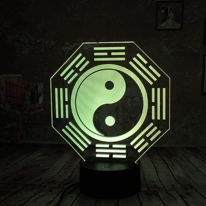 wangZJ 3d Night Light / 3d Illusion Lámpara / 3d Led Lamp ...