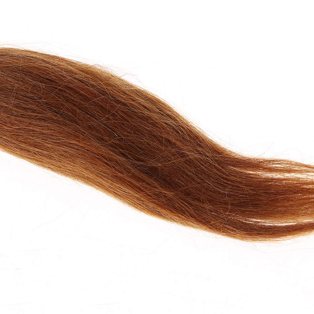 Pure Mohair Hair Straight Wig for Reborn Doll Baby Doll Supplies DIY Brown