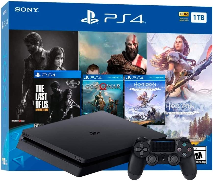 SonyHoliday Bundle - Playstation 4 1TB Slim, Color Negro Azabache ...