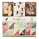 American Crafts 12''x 12'' Wildflower Paper Pad Stack - 60 Designs, Printed Cardstock - Acid-Free - Scrapbooking Essential