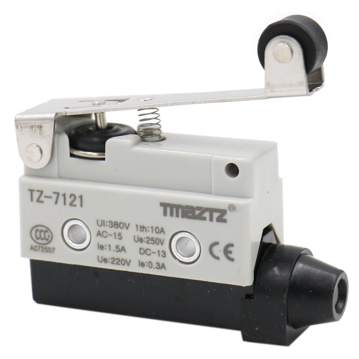 Heschen Horizontal limit switch TZ-7121 momentray long roller lever actuator AC 380V 10A single pole Yongde Industrial switch
