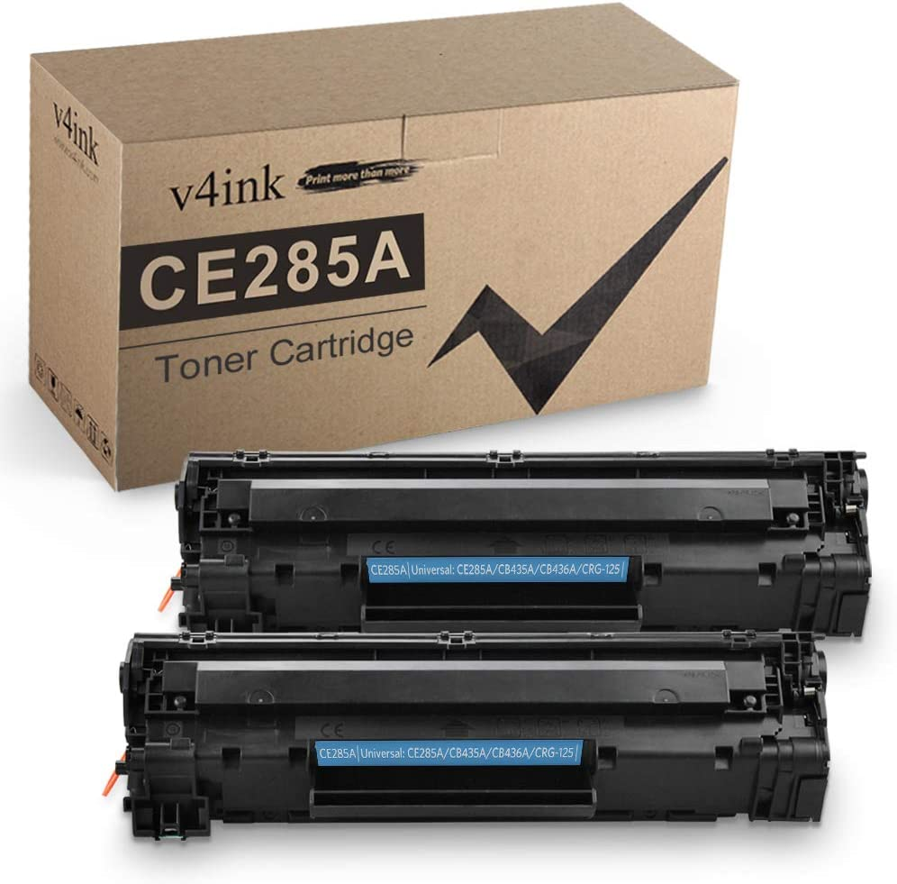 V4INK Compatible 85A Toner Cartridge Replacement for HP 85A CE285A for HP Laserjet Pro P1102w P1109w M1212nf M1217nfw M1130 M1132 M1136 M1522nf MFP P1505n P1005 P1006 P1009 (High Yield, Black 2 Pack)