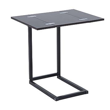 Tremendous Homcom Extending Table Folding Tray Table Foldable Bed Side Coffee Tea Laptop Desk Download Free Architecture Designs Itiscsunscenecom