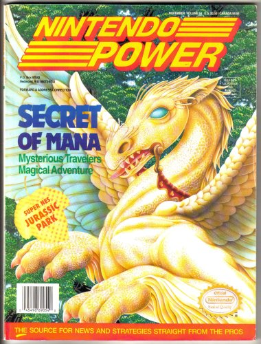 Nintendo Power Magazine - Secret of Mana (Volume 54) (Wii Games Pinball)