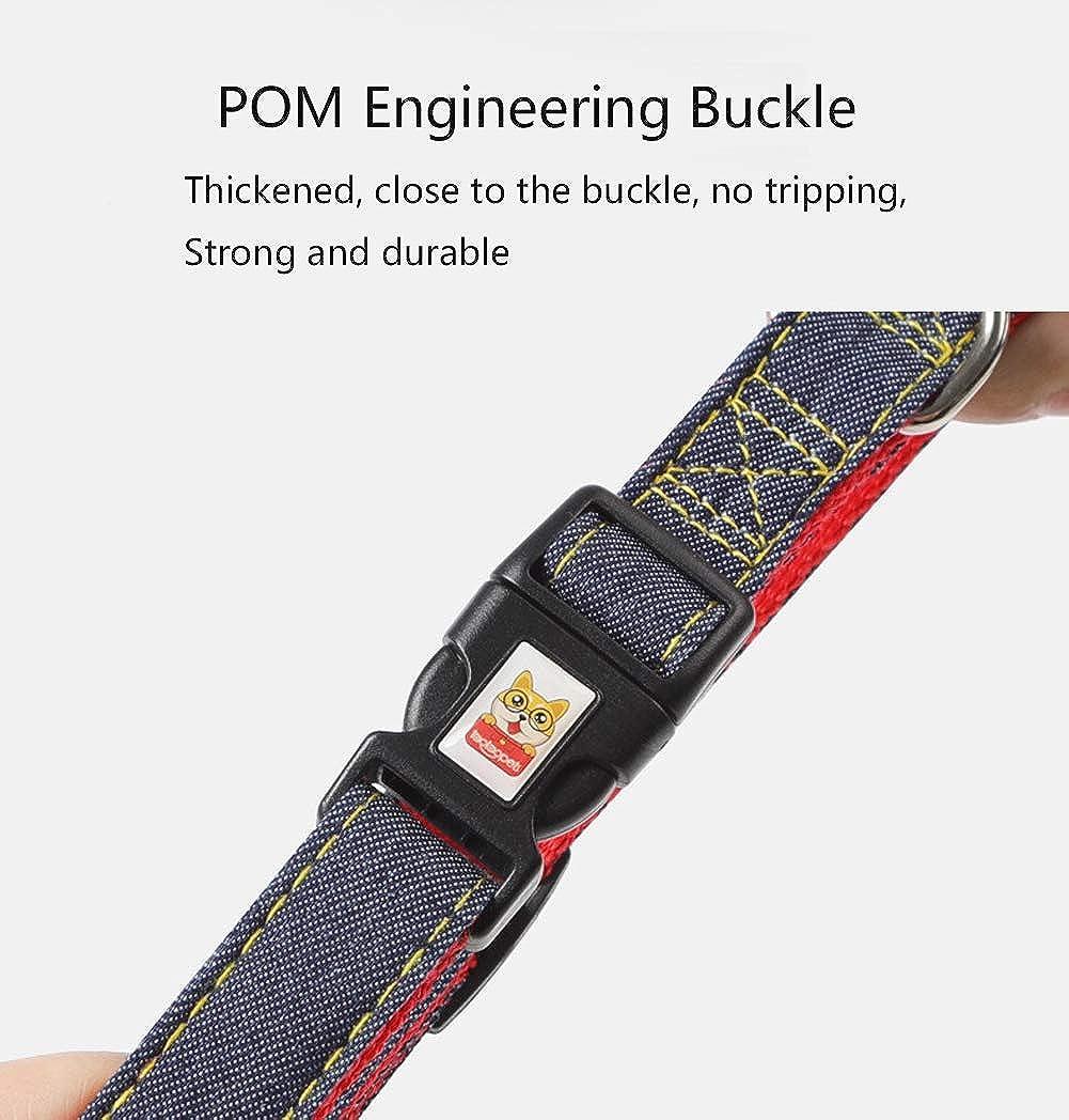 Dog Harness and Leash Set Adjustable Dog Harnesses Denim Rope Leash for Small Medium Dogs Durable Pet Vest