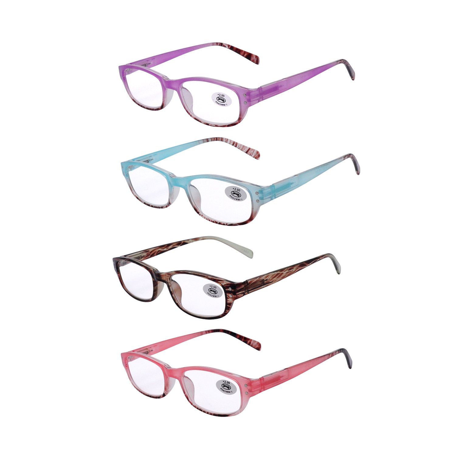 6175a84925c Amillet Reading Glasses 4 Pack for Women