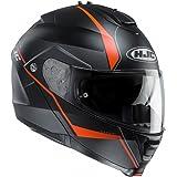 HJC IS-MAX 2/II Flip Front Up DVS Motorcycle Helmet - Mine MC7SF Black Orange