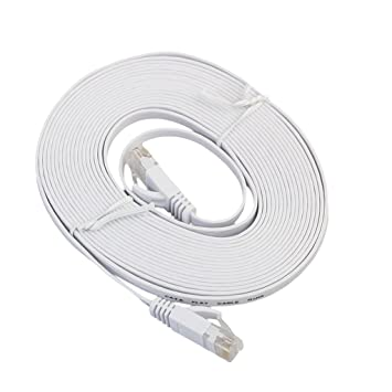 Gazechimp 1 pieza de Cables Ethernet de CAT6 de Ethernet RJ45 Compatible con Telévisión PS4 Blanco