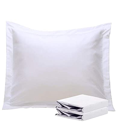 Amazon Com European Pillow Shams White Set Of 2 Euro Pillow Shams