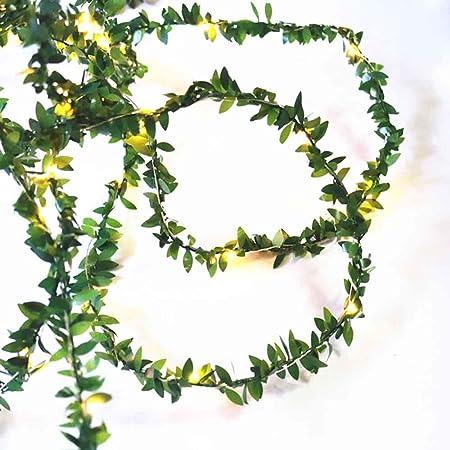 3-10M 30-100LEDs Leaf Garland String Fairy Light Green Garden Wedding Xmas Decor