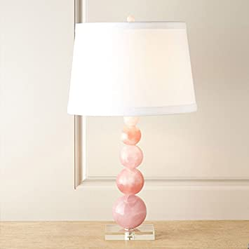 Crystal Table Lamp Light Pink Halori Beaded Art Bedside Lamp E27